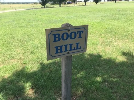 Boot Hill is where outlaws were buried after nobody would claim their bodies.