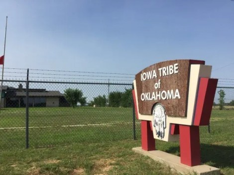 Just west of Highway 177 you pass through Kiowa Tribal Headquarters.