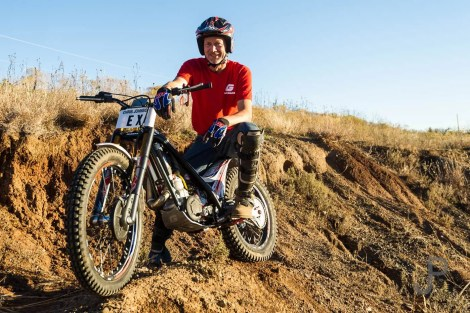 Chris Johnson is an expert level observed trials rider who teaches an intro to trials riding course at his ranch west of Lawton.