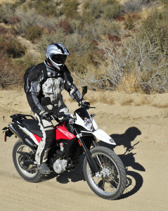 Stand-up riding feels very natural on the Husqvarna TR650 Terra.