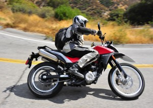 Wide handlebars, lightweight and gas stored under the seat give the Terra easy handling.