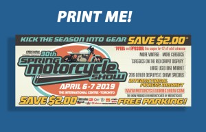 spring motorcycle show coupon