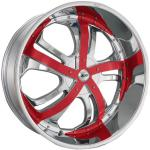 CHROME TWISTED W RED CLIPS