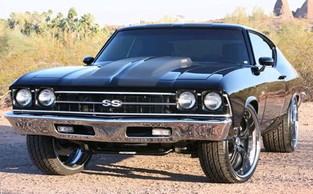 rides cars Chevrolet chevelle black