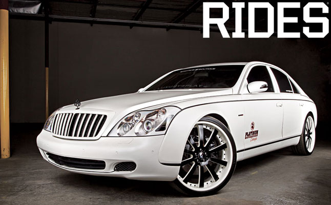 rides cars matte white maybach 57 platinum luxury4play