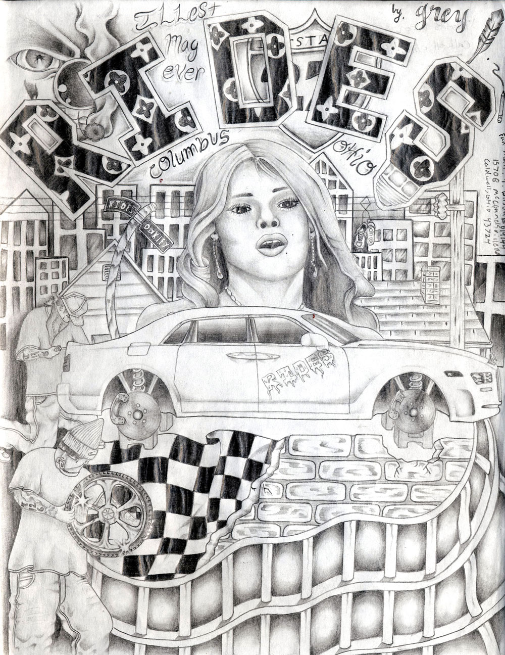 rides cars drawings Thomas-Wilson_Caldwell,-OH ohio