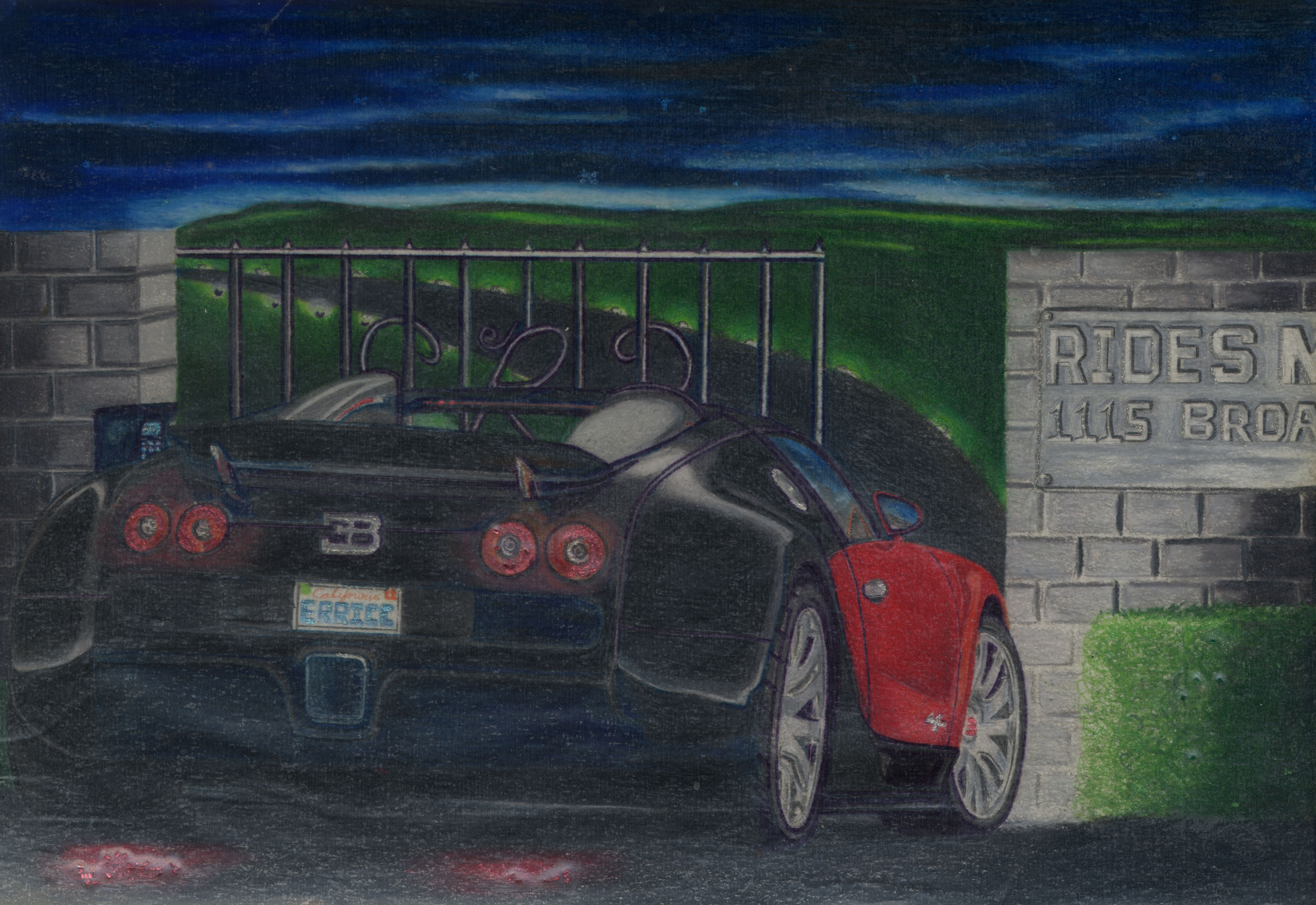 rides cars erricc pickett represa california drawing art