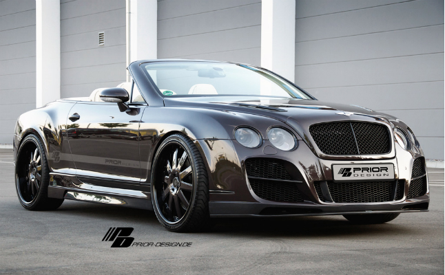 2011 bentley black body kit cabriolet continental convertible coupe gray gtc gt prior designs rides vert wheels