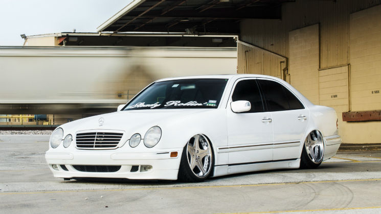 rides white bagged mercedes benz merc low w210 e320 e class jakes southrnfresh