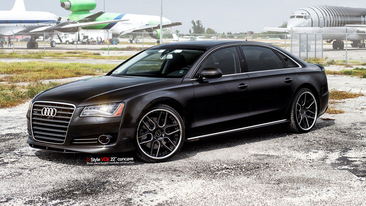 Audi_A8_VCK_rides_black_Vellano_22_inch_mc_customs_miami