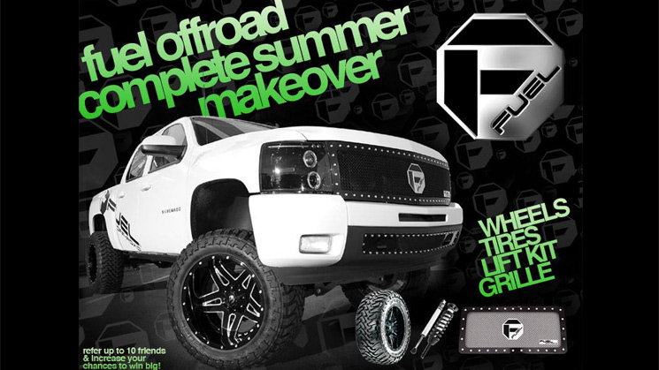 rides fuel offroad free giveaway mht wheels complete summer makeover mud gripper grille lift kit