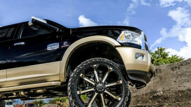 Tuff A.T, T13. 26X10 W/ 37x13.50R26 Tuff M/T tires.
