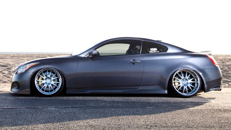 2008 Infiniti G37S Coupe; AME Shallen MX wheels, 20x9.5-inch front, 20x10-inch rear