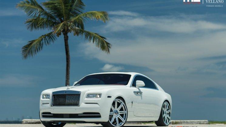 MC Customs | Robinson Cano's Vellano Wheels Rolls-Royce Wraith 01R