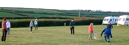 Cricket match at Headon Farm