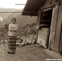 An Idu tribe woman, at a pitstop for us riders.