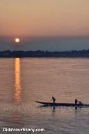Sunset at Savannakhet, overlooking Mukdahan, Thailand