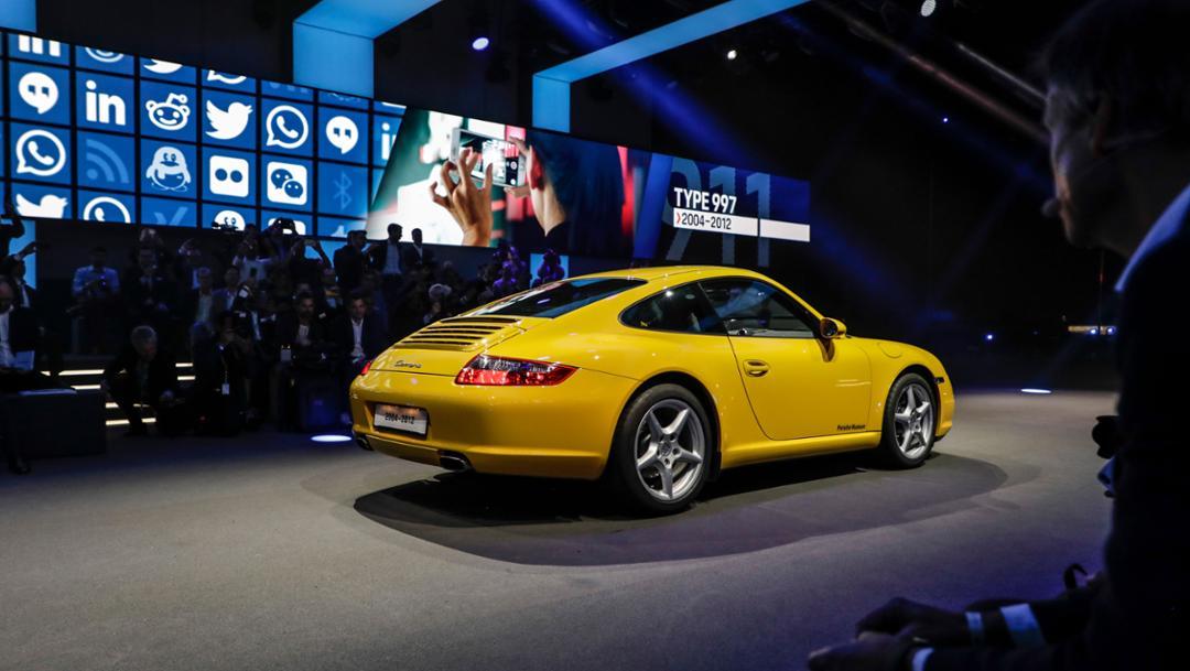 911 (997), universe premiere Porsche 911, Los Angeles, 2018, Porsche AG