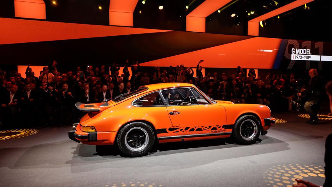 911 (G model), universe premiere Porsche 911, Los Angeles, 2018, Porsche AG