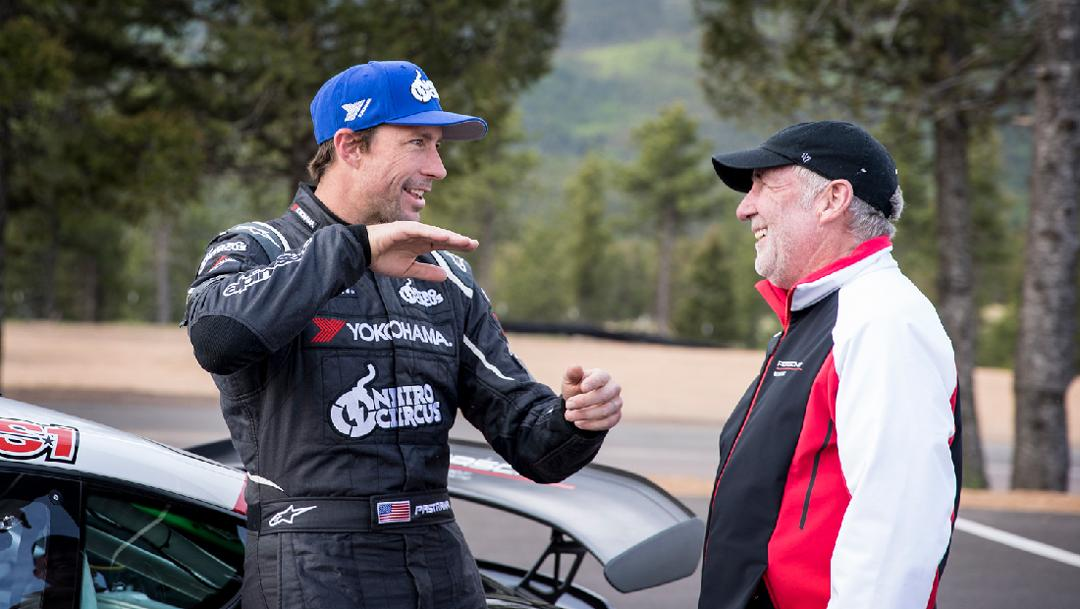 Travis Pastrana, Jeff Zwart, (l-r), Broadmoor Pikes Peak International Hill Climb, 2018, Porsche AG