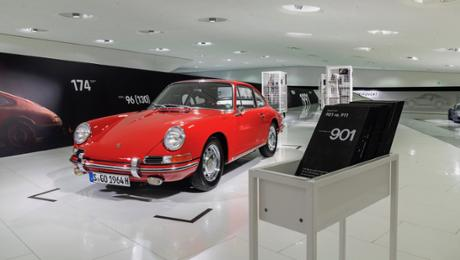 Porsche Museum showcases a oldest 911