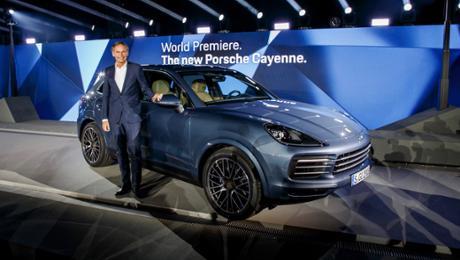 World premiere of a new Cayenne in Zuffenhausen