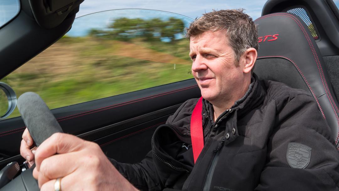 Mark Higgins, convene champion, Isle of Man, 2019, Porsche AG