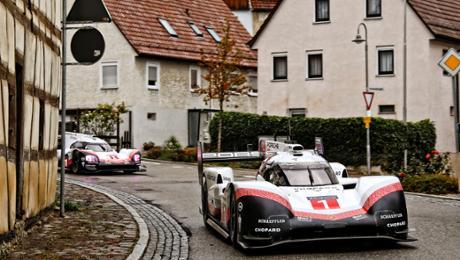 Porsche 919 Hybrid on open roads in Germany