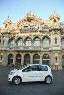 SEAT Mii Ecofuel, in a Port of Barcelona