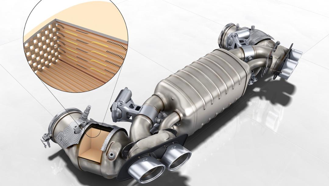 Gasoline particulate filter, 2019, Porsche AG
