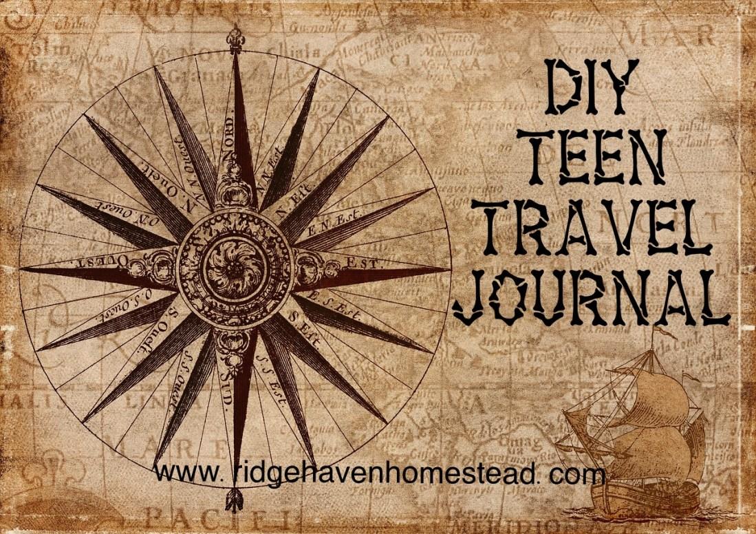 DIY teen travel journal