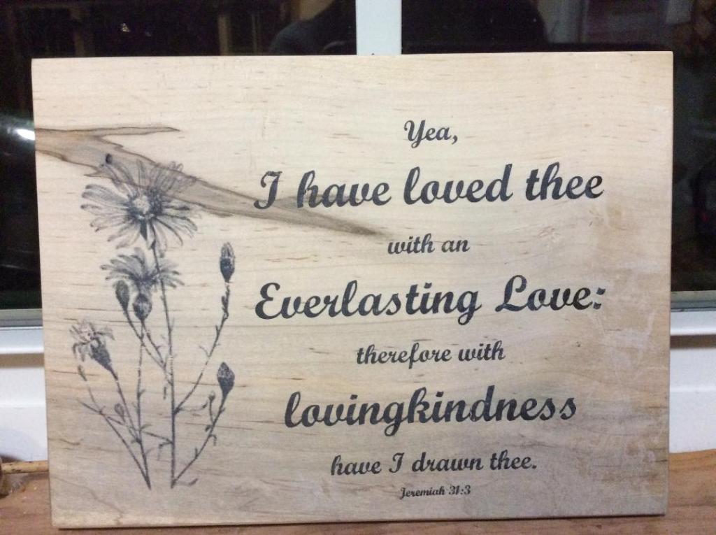 wooden scripture plaque