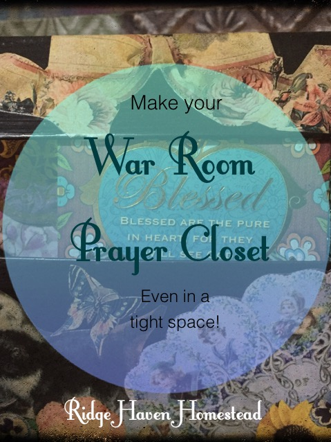 War room prayer closet