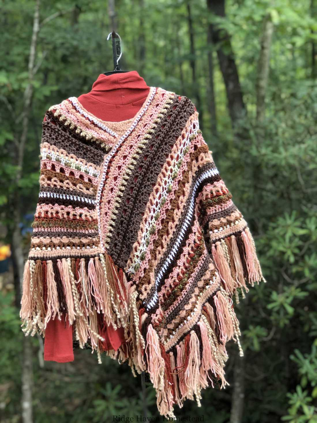 Earthy Pinks Molly Poncho