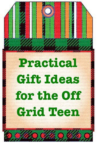 Gifts for off grid teen tag