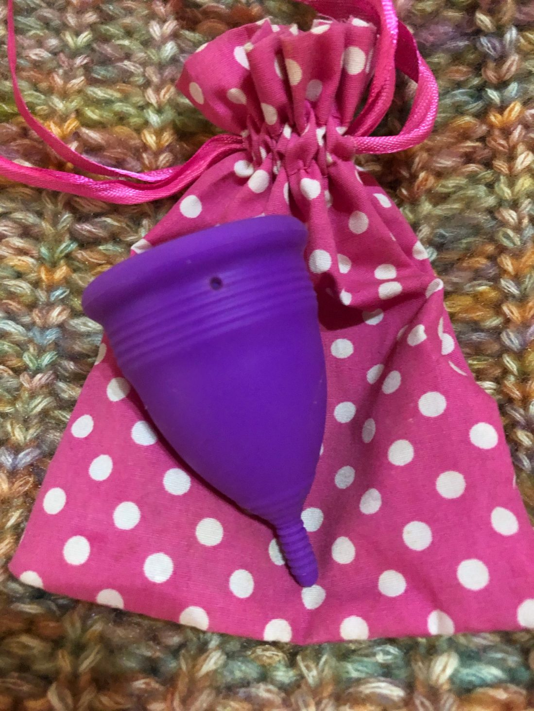 Blossom Menstrual cup and bag