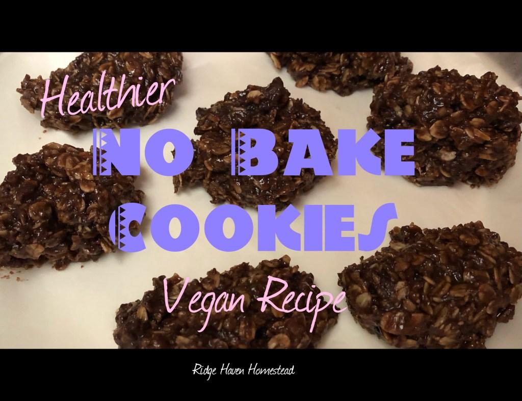 Healthier No bake cookies
