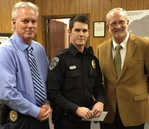 Officer Kyle Millican has been selected as Officer of the Month for January 2016. Chief John Neal said that Officer Millican's actions are indicative of an officer that cares for his community. His actions are commendable and indicative of a professional and motivated officer.
