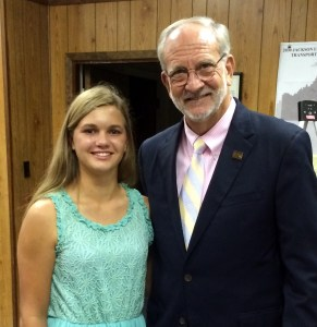 Pictured L-R: Haylie Best and Mayor Gene McGee. Best was recognized at the July 15, 2014 Mayor and Board of Aldermen meeting at Ridgeland City Hall. Haylie Best has been selected as one of 48 players from across the country to play on the Scout Sports All-American Fast Pitch Softball Team, and she is the only participant from Mississippi. She will compete August 8-10, 2014 in Albuquerque, New Mexico. Haylie is the daughter of Jim and Debbie Best and lives in Ridgeland.  She will be a sophomore at Madison Ridgeland Academy. Ridgeland officials are proud of her accomplishments and wish her the best of luck in Albuquerque. She will represent Ridgeland and Mississippi well.