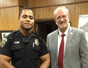 Ridgeland Police Officer Gerald West was selected for Officer of the Month for April, 2015. Officer West was recognized at the June 2 Mayor and Board of Aldermen meeting by Mayor Gene McGee. His actions are commendable and indicative of a professional and motivated officer.