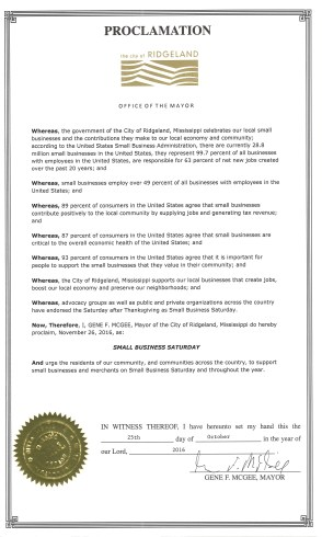 small-business-saturday-proclamation