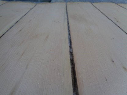 April 18 – Sandy and Ed had to remove the dirt in gaps between floor boards