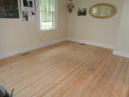 May 3 – parlor floor completely sanded