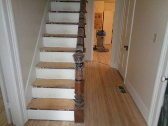 May 3 – initial sanding of steps
