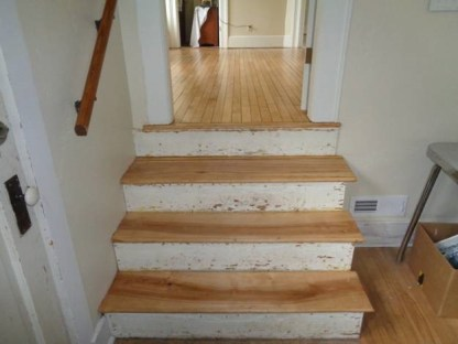 May 6 – stairs from kitchen to dining room