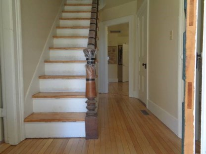 May 8 – hallway and steps after last finish coat applied