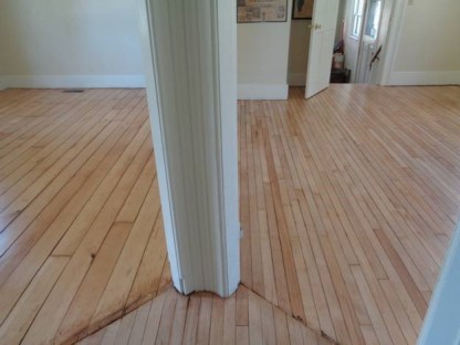May 8 – looking into parlor and dining room