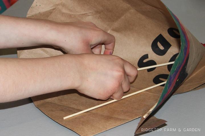 Ridgetop Farm & Garden | Paper Bag Teepee Craft
