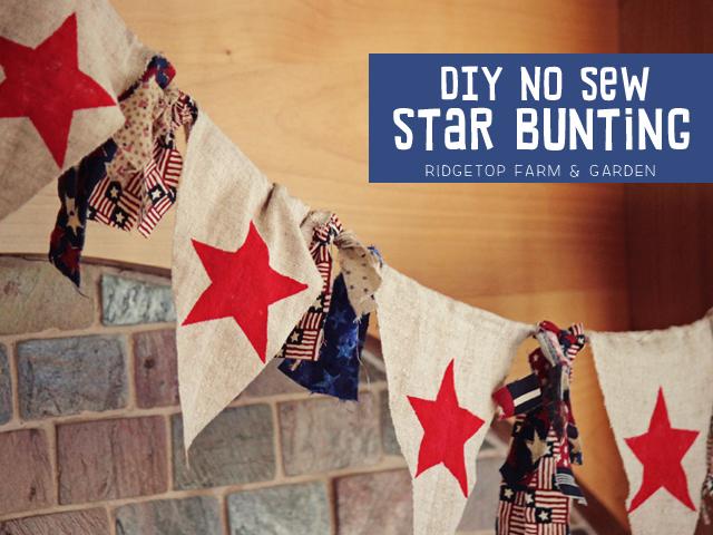Ridgetop Farm & Garden | DIY No Sew Star Bunting