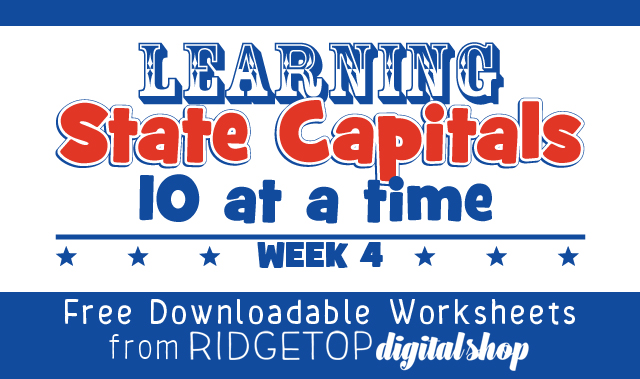 Ridgetop Farm and Garden | Learn State Capitals | Week 4 | free printable